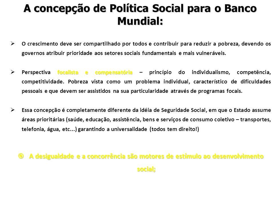 A concepção de Política Social para o Banco Mundial: