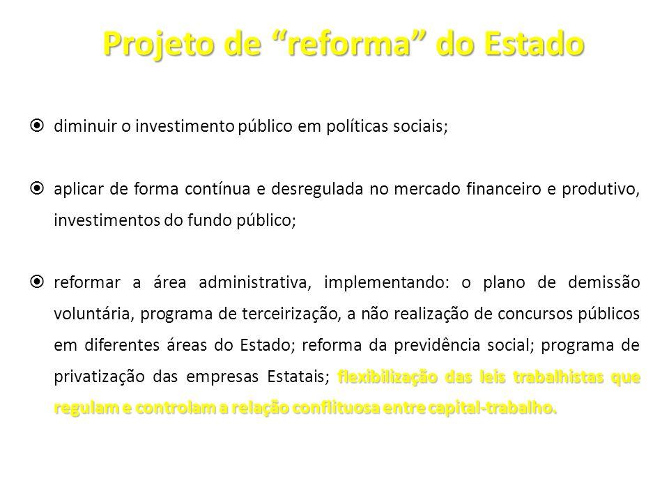 Projeto de reforma do Estado