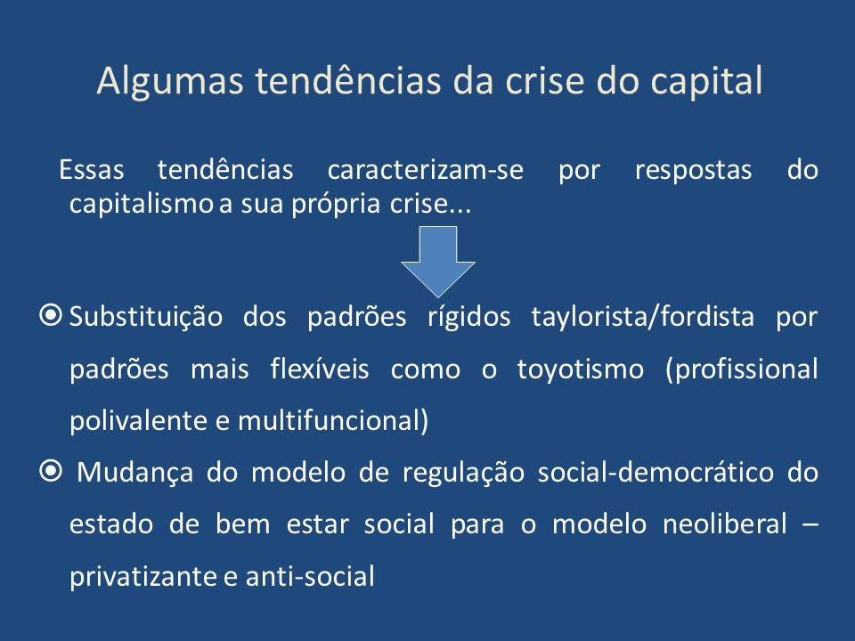Algumas tendências da crise do capital