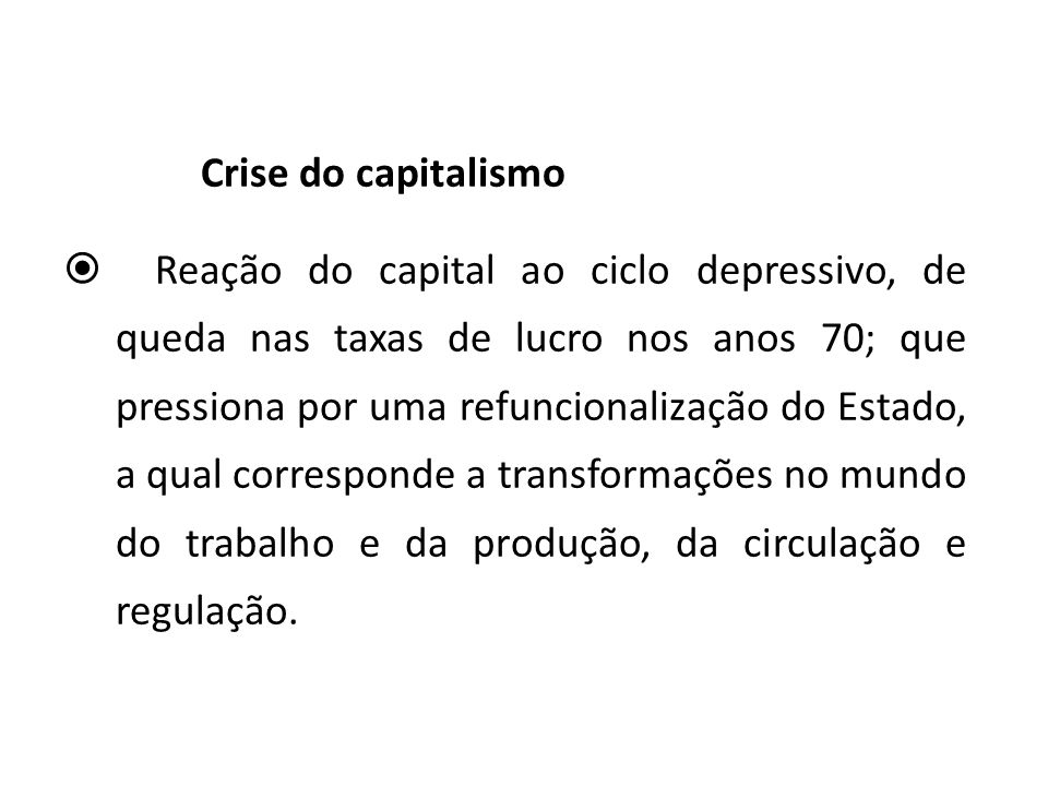Crise do capitalismo