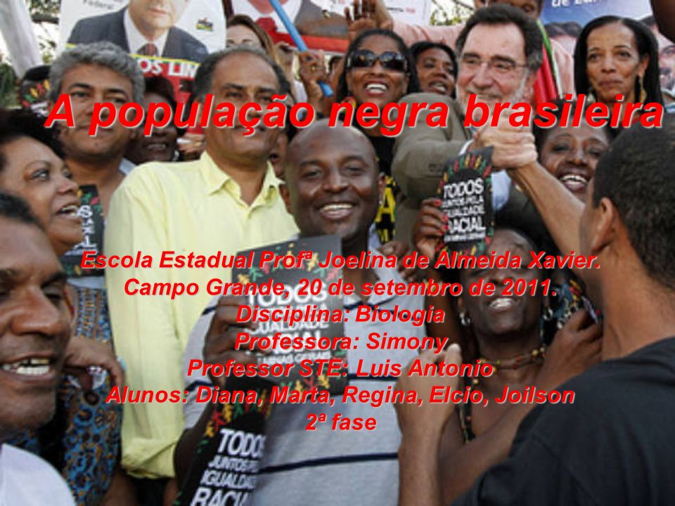 A população negra brasileira