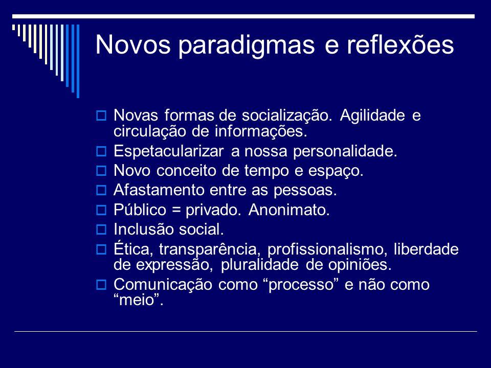 Novos paradigmas e reflexões