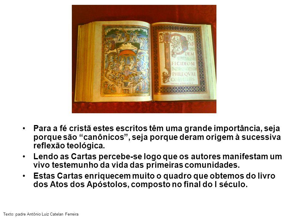 Para a fé cristã estes escritos têm uma grande importância, seja porque são canônicos , seja porque deram origem à sucessiva reflexão teológica.