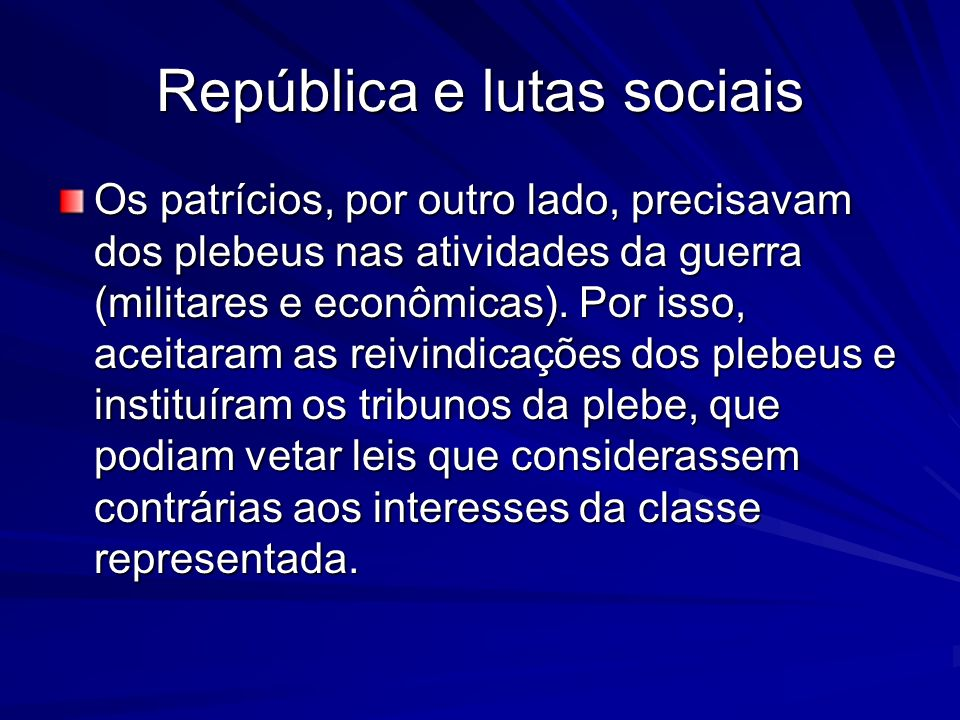 República e lutas sociais