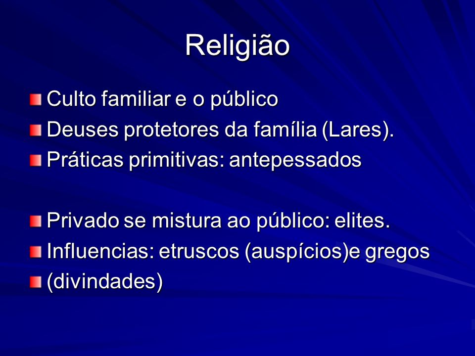 Religião Culto familiar e o público