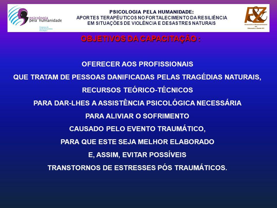 OBJETIVOS DA CAPACITAÇÃO :