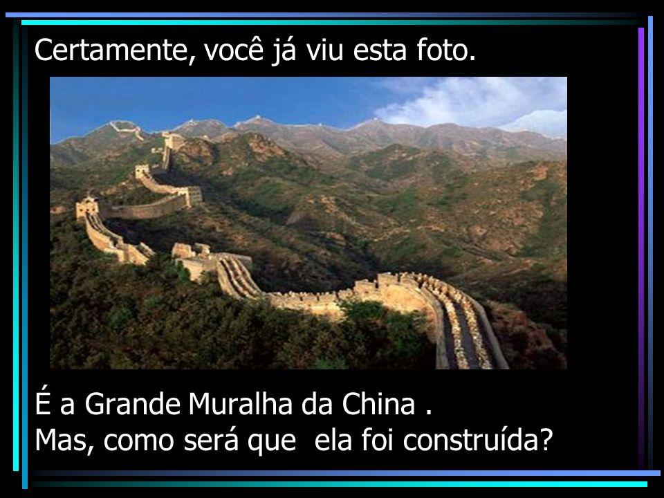 Certamente, você já viu esta foto. É a Grande Muralha da China