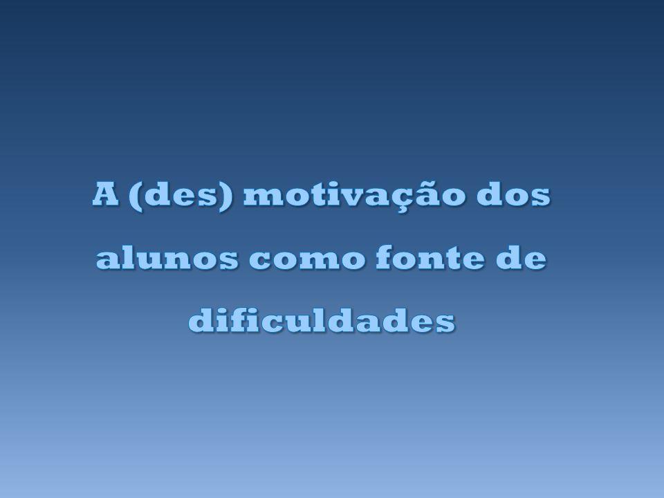 A (des) motivação dos alunos como fonte de dificuldades