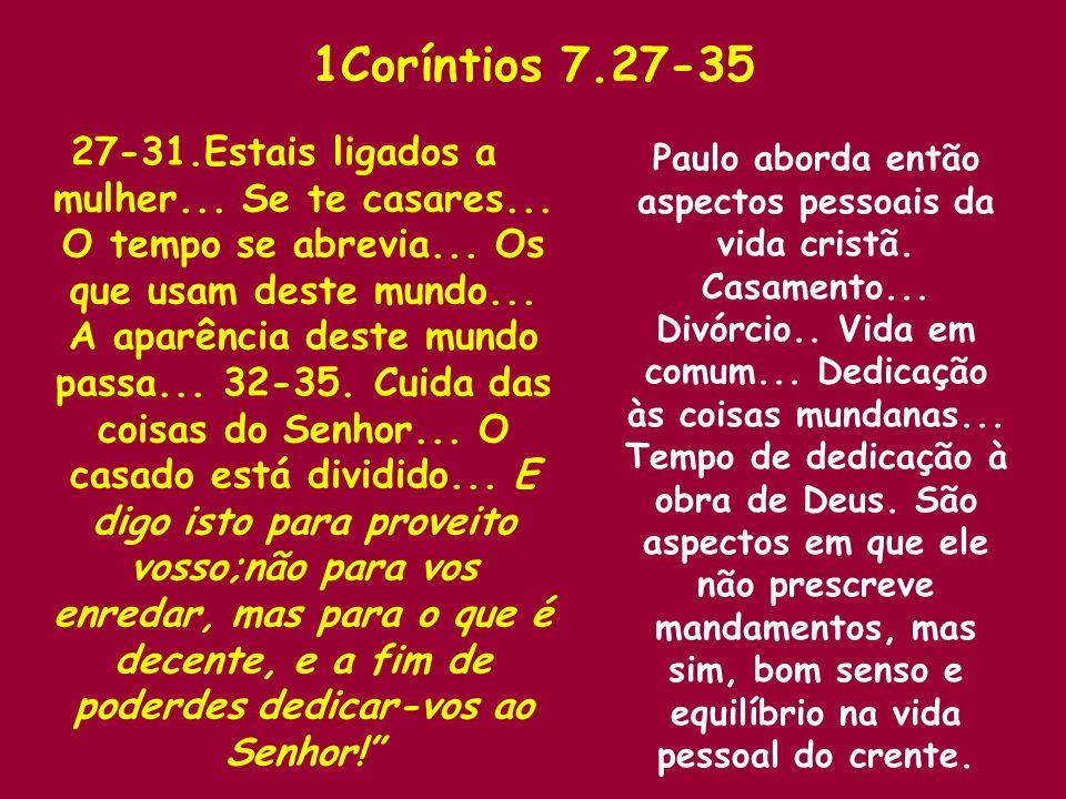 1Coríntios 7.27-35