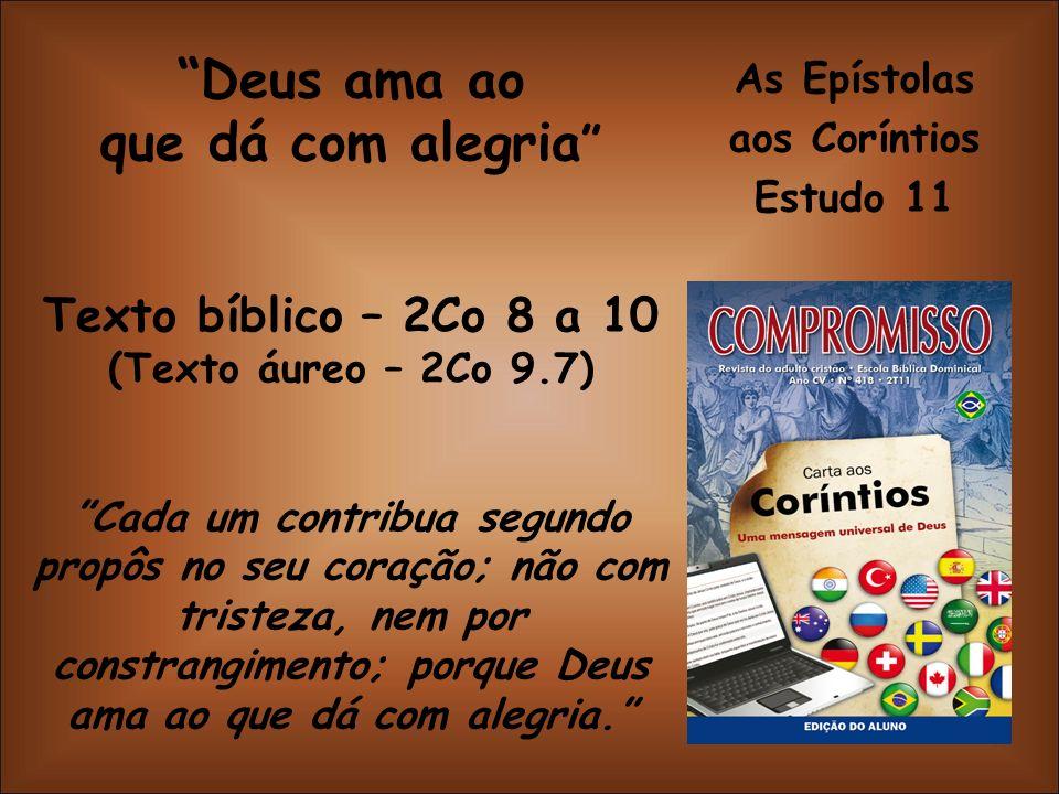 As Epístolas aos Coríntios Estudo 11