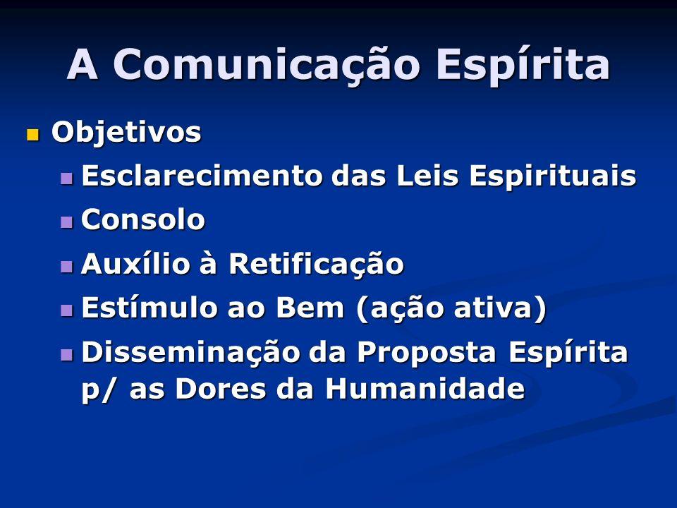 A Comunicação Espírita