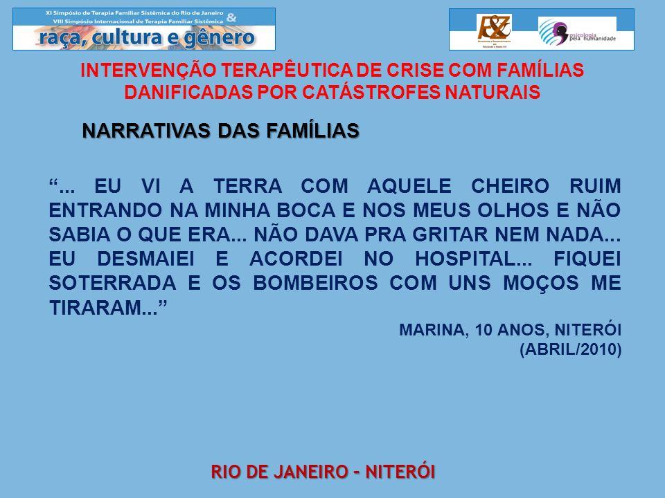 Narrativas das famílias Rio de janeiro – Niterói