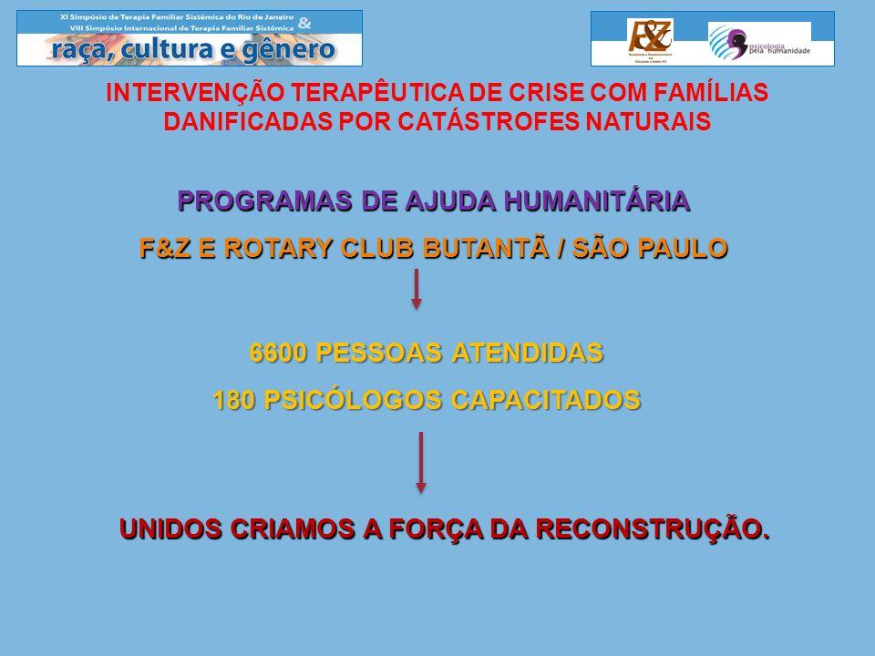 PROGRAMAS DE AJUDA HUMANITÁRIA F&Z E ROTARY CLUB BUTANTÃ / SÃO PAULO