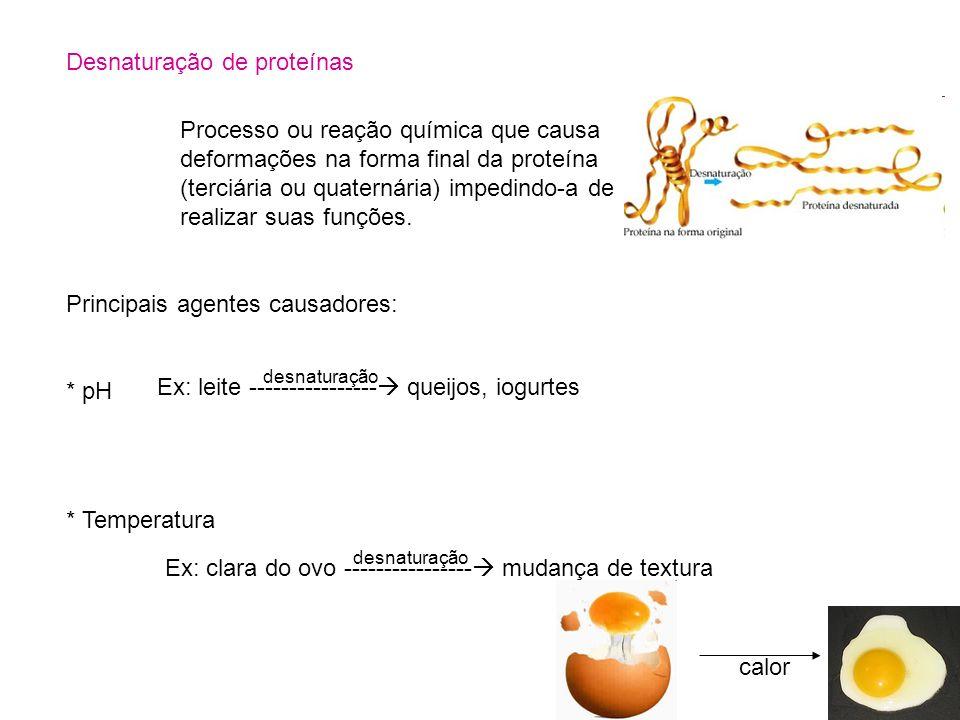 Desnaturação de proteínas