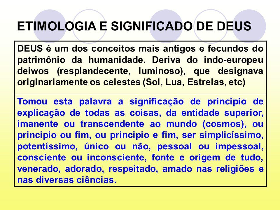 ETIMOLOGIA E SIGNIFICADO DE DEUS