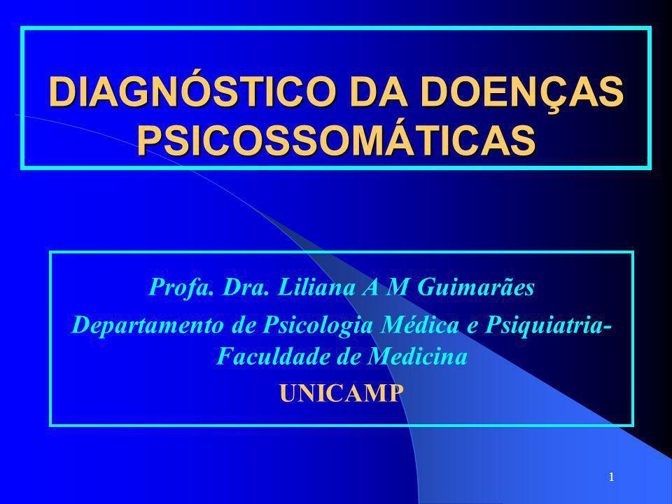 DIAGNÓSTICO DA DOENÇAS PSICOSSOMÁTICAS