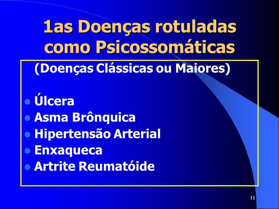 1as Doenças rotuladas como Psicossomáticas