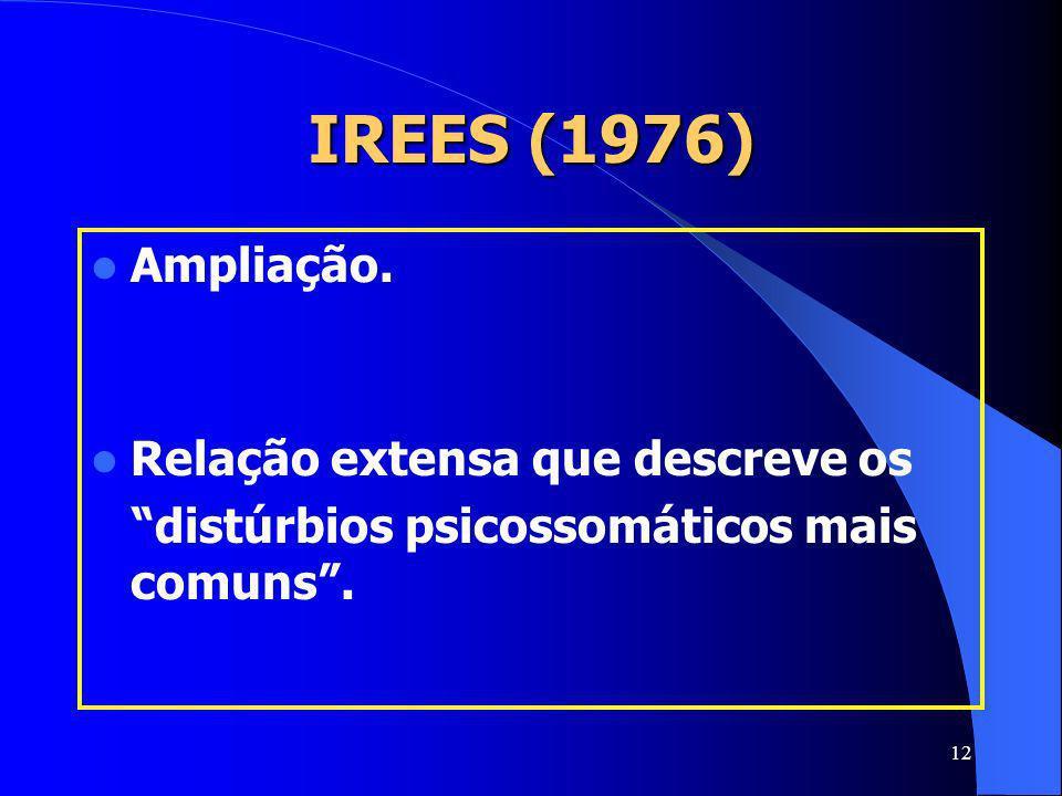 IREES (1976) Ampliação. Relação extensa que descreve os