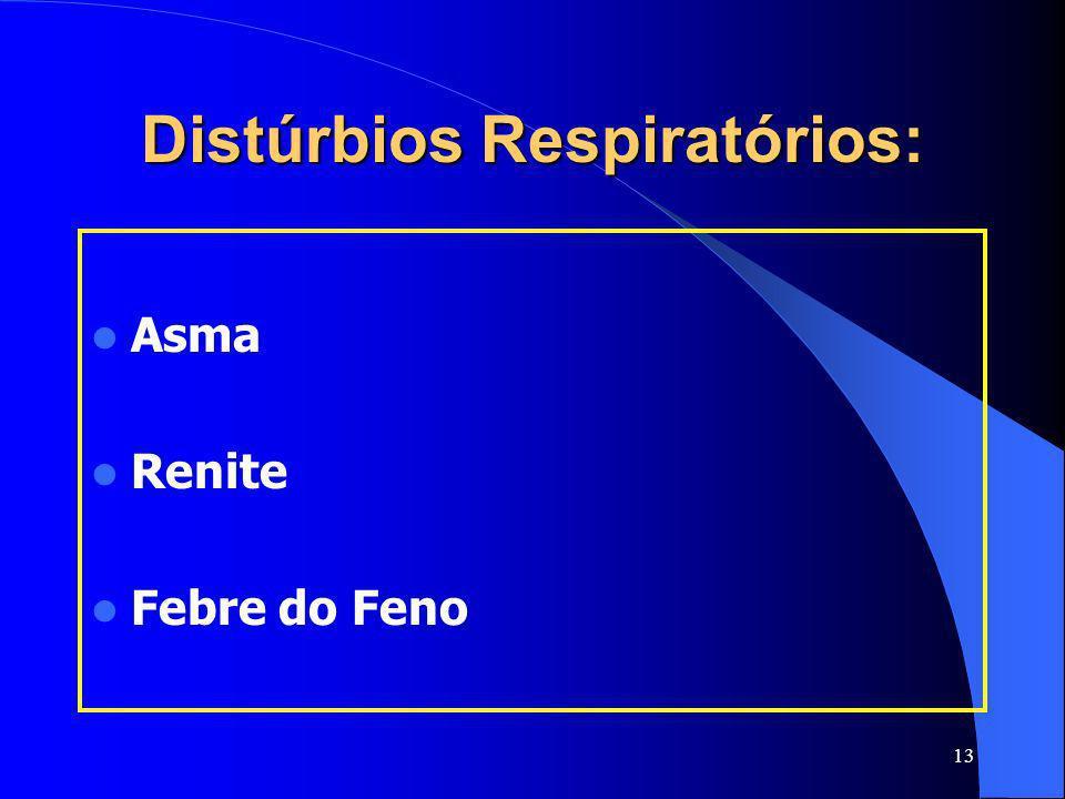 Distúrbios Respiratórios: