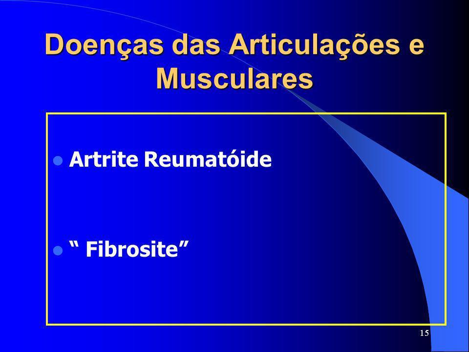 Doenças das Articulações e Musculares