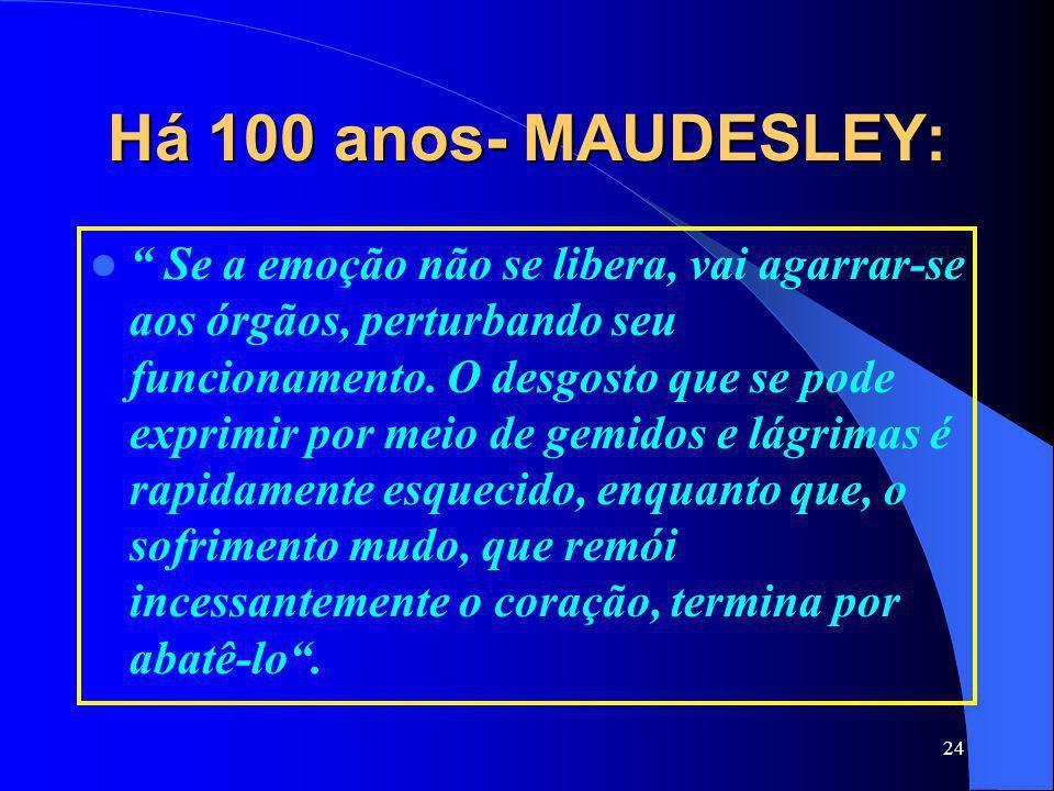 Há 100 anos- MAUDESLEY: