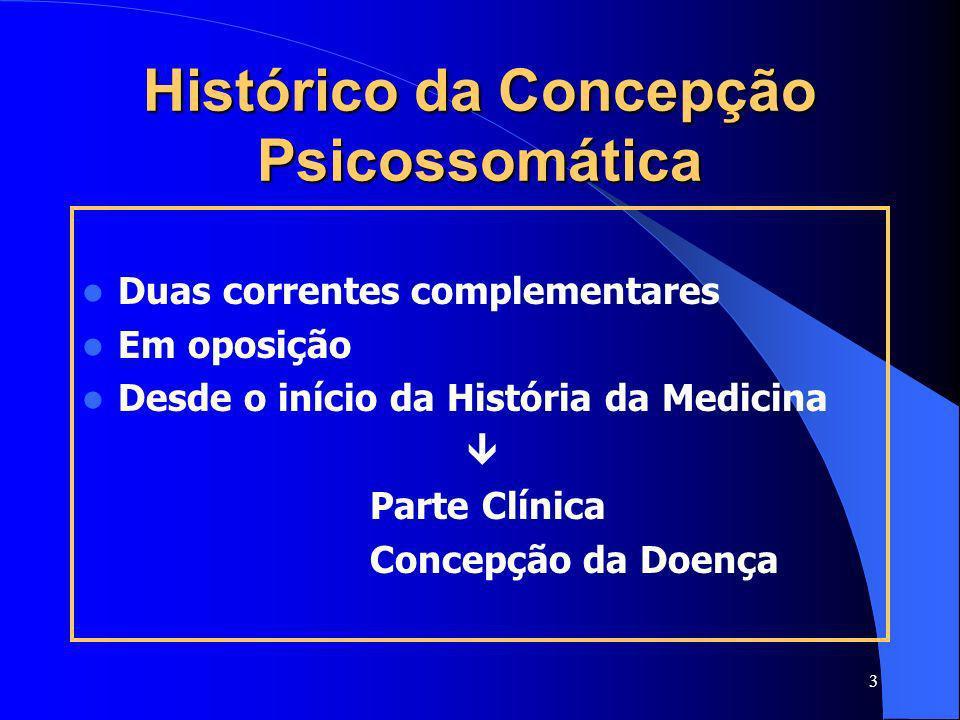 Histórico da Concepção Psicossomática