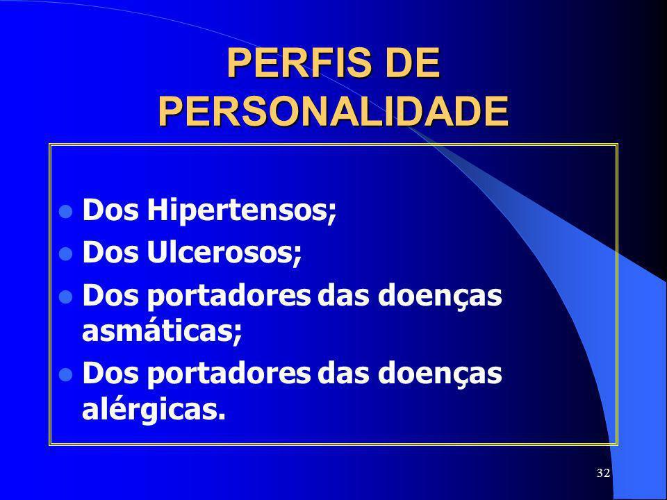 PERFIS DE PERSONALIDADE