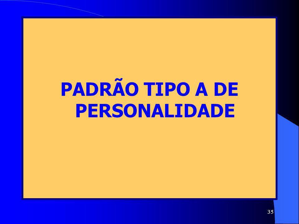 PADRÃO TIPO A DE PERSONALIDADE
