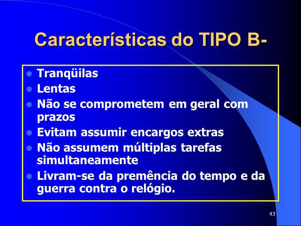 Características do TIPO B-