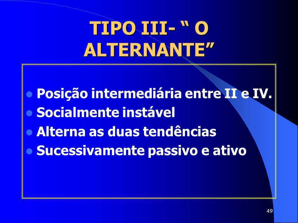 TIPO III- O ALTERNANTE