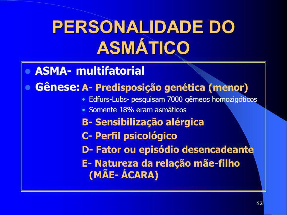PERSONALIDADE DO ASMÁTICO