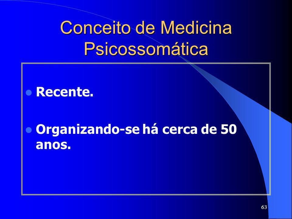 Conceito de Medicina Psicossomática