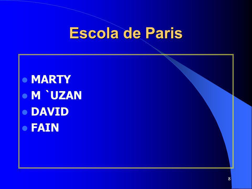 Escola de Paris MARTY M `UZAN DAVID FAIN