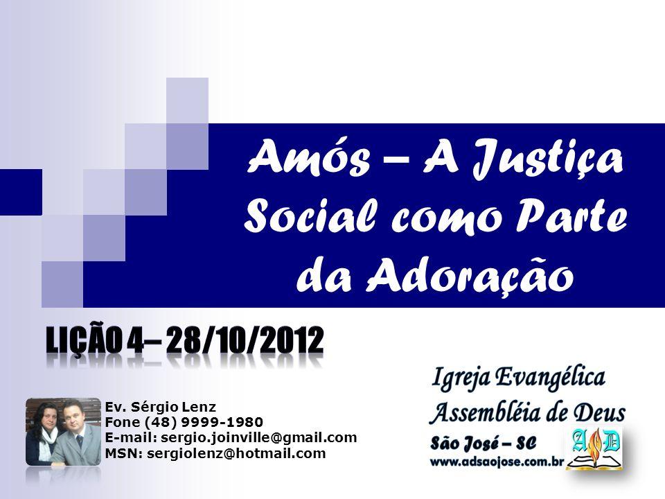 Amós – A Justiça Social como Parte da Adoração