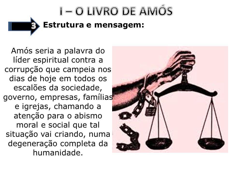 I – O LIVRO DE AMÓS 3 Estrutura e mensagem: