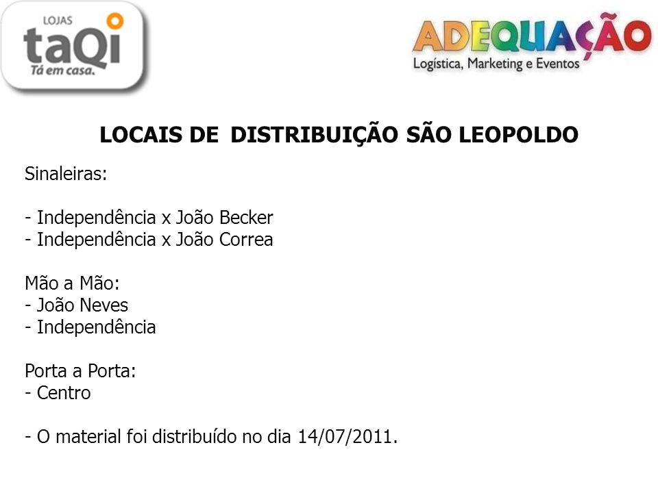 LOCAIS DE DISTRIBUIÇÃO SÃO LEOPOLDO