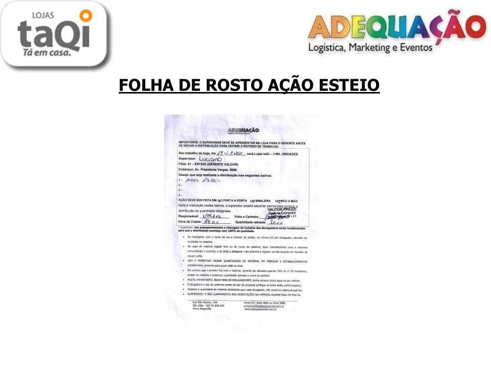 FOLHA DE ROSTO AÇÃO ESTEIO