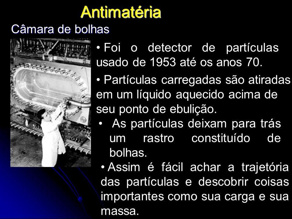 Antimatéria Foi o detector de partículas usado de 1953 até os anos 70.