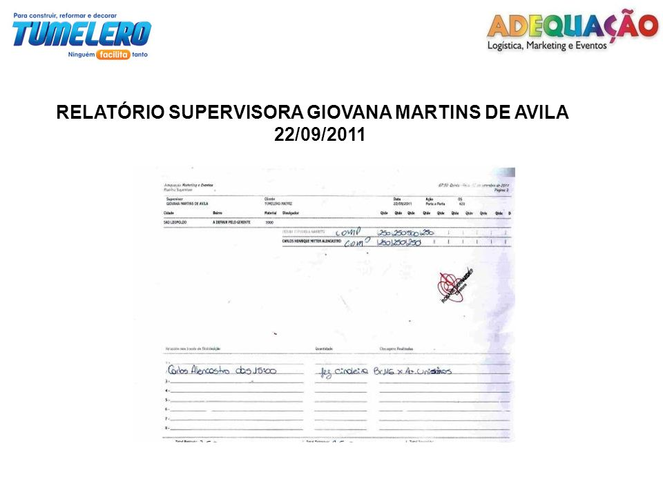 RELATÓRIO SUPERVISORA GIOVANA MARTINS DE AVILA