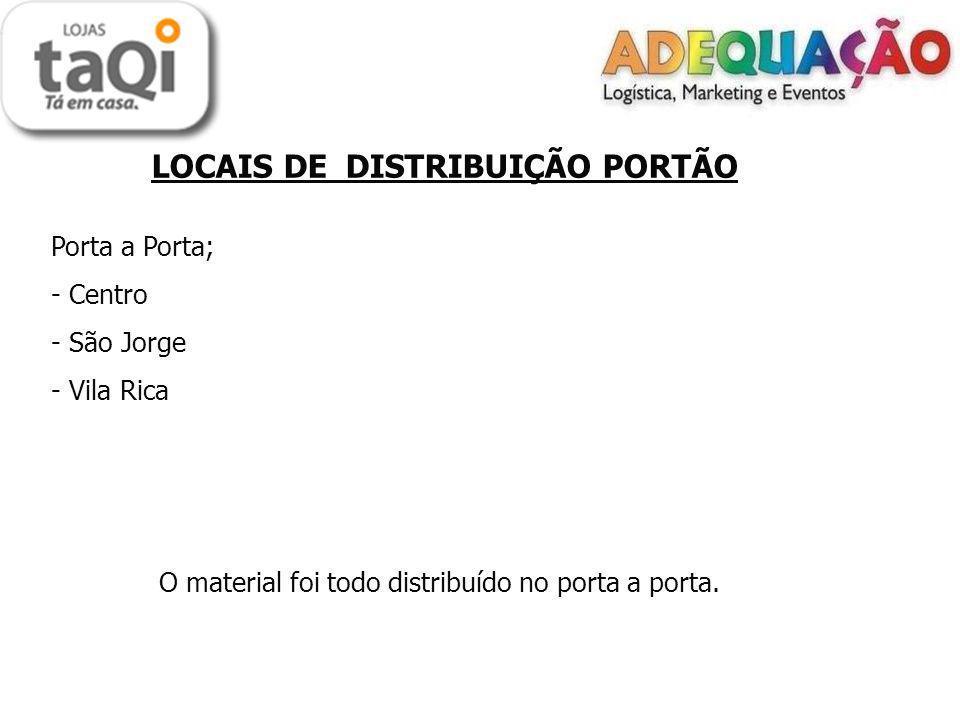 LOCAIS DE DISTRIBUIÇÃO PORTÃO