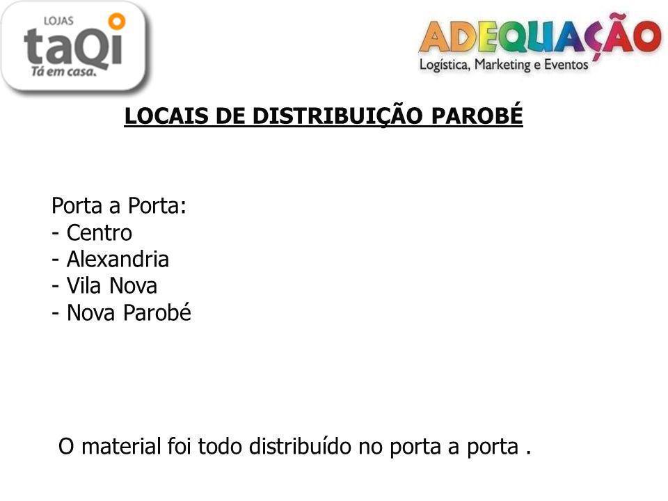 LOCAIS DE DISTRIBUIÇÃO PAROBÉ