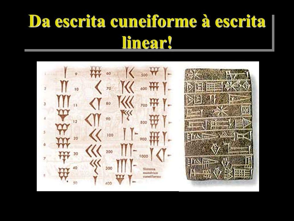 Da escrita cuneiforme à escrita linear!