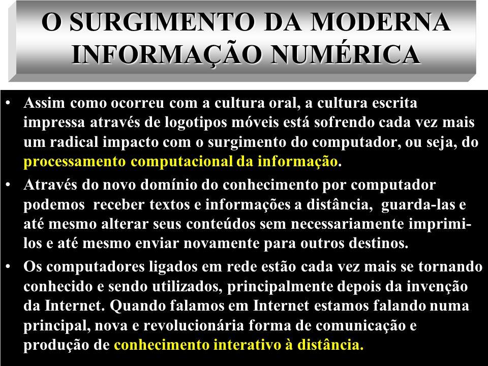 O SURGIMENTO DA MODERNA INFORMAÇÃO NUMÉRICA