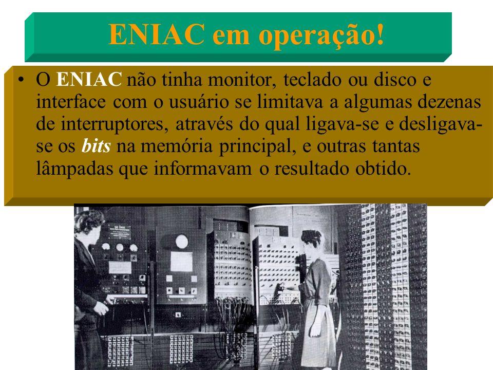ENIAC em operação!