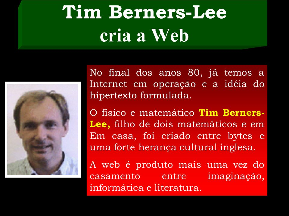Tim Berners-Lee cria a Web