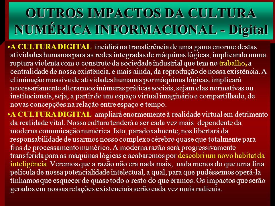 OUTROS IMPACTOS DA CULTURA NUMÉRICA INFORMACIONAL - Digital