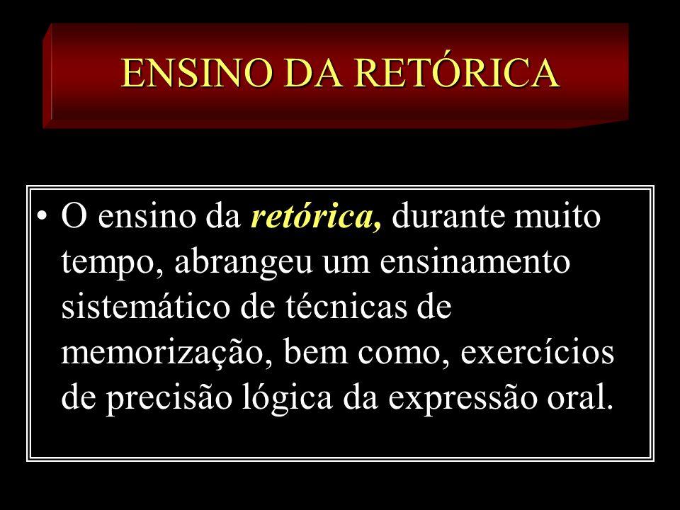 ENSINO DA RETÓRICA