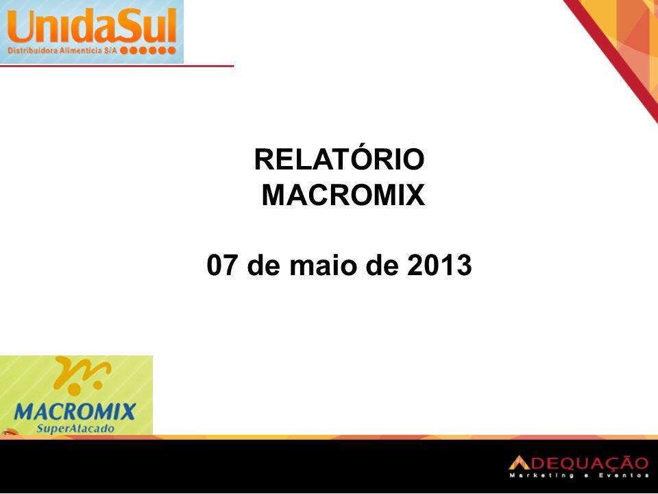 RELATÓRIO MACROMIX 07 de maio de 2013