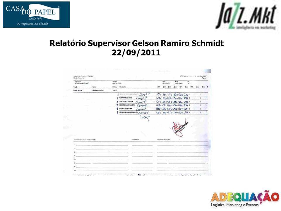Relatório Supervisor Gelson Ramiro Schmidt