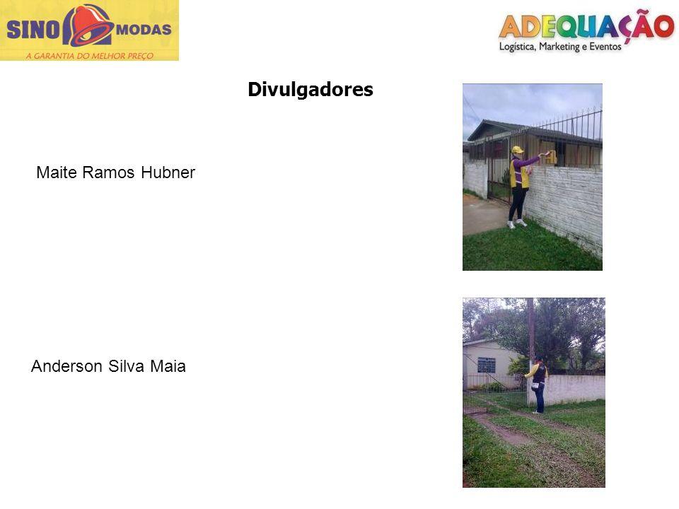 Divulgadores Maite Ramos Hubner Anderson Silva Maia
